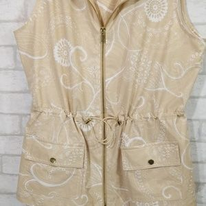 Chico's Jackets & Coats - Zenergy by chicos zip up hoodie vest size 1